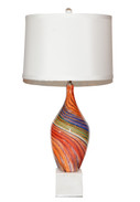 Art Glass Swirl Lamp