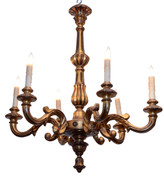 Old Italian Wood Chandelier