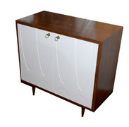 Irving Rosewood & White Lacquer Cabinet