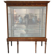 Edwardian Satinwood Display Cabinet