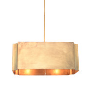 Oblong Pendant Chandelier Antique Brass Finish