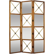 Maison Jansen Style Neoclassic Three-Panel Dual Sided Screen