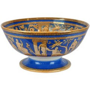 Englsih Marzine Blue Ironstone Portland Centre Bowl by T. Furnival & Sons