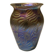 Iridescent Art Glass Vase