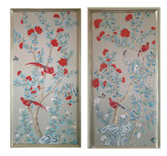 Crimson Birds Set of 2