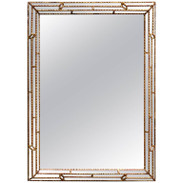 Large Rectangular Italian Carved Giltwood Mirror