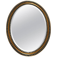 Irish Oval Mirror with Inset Paste Stones