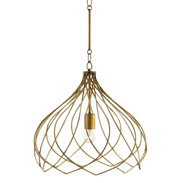 Modern Currey & Co. Gold Metal Coralie Pendant