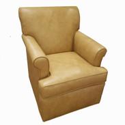 Custom Leather Club Chair