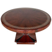 Art Deco Style Rosewood Centre Table with Lacquer Inlay
