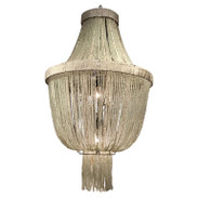 Crystal Beaded Urn Chandelier, in the Neoclassical Style