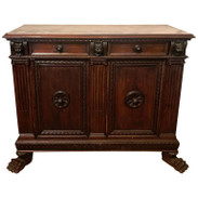 Italian Renaissance Style Marble-Top Credenza