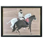 Chinese Horseman Painting, Signed Hai Shin