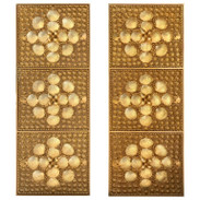 Pair of Tony Duquette Gold Covered Shell Panels or Screens