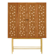 Currey & Co. Ginkgo Leaf Bohlend Cabinet/Bar