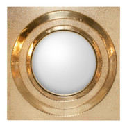 Contemporary Global Views Ronan Brass Round Wall Mirror