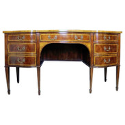 Georgian Style Mahogany and Satinwood Inlaid Sideboard