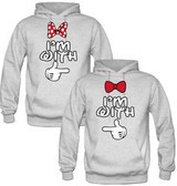 HODDIE PAREJA GRIS I am with (2 hoodies)