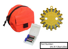 Kit contains PowerFlare, Soft Bag, and 2 Spare Batteries