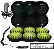 PowerFlare® Rechargeable LED Road Flare Safety Lights (6 - Pack Recharging System)