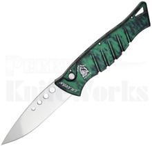 Piranha Amazon Automatic Knife Green Marble P-3