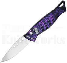 Piranha Amazon Automatic Knife Plum Marble P-3
