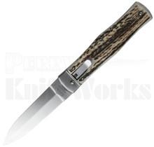 Mikov 241 Predator Leverlock Automatic Knife Stag