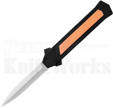 AKC F-16 D/A Satin Dagger OTF Automatic Knife Copper