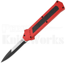 AKC F-16 D/A Two-Tone Bayonet OTF Automatic Knife Red