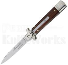 """AKC Bill DeShivs 8"""" Leverletto Automatic Knife Cocobolo l For Sale"""