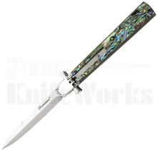 """AGA Campolin 9"""" Dominus Leverlock Automatic Knife Abalone"""