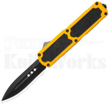 Titan Yellow OTF Automatic Knife Black Spear Point
