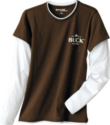Buck Women's Brown T-Shirt Large