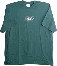 Buck Logo Green T-Shirt Medium