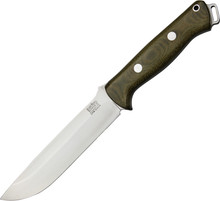 Bark River Bravo 1.5 Green Micarta Fixed Blade Knife