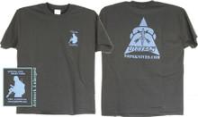 Tops T-Shirt Blue Black Large.