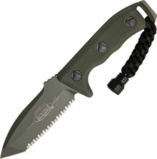 Microtech Currahee T/E Green Serrated Knife
