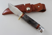Hess Knifeworks Buckeye Burl Hunter With Crows Foot Pomel