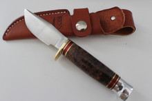 Hess Knifeworks Maple Burl Hunter Knife