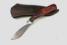 Jim Siska Custom Cocobolo Bird And Trout Knife (Satin)