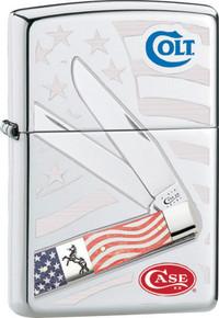 Zippo Colt /Case Old Glory Lighter