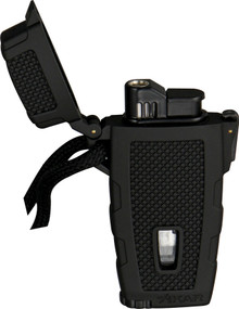 Xikar Black Rubber Windproof Stratosphere Lighter