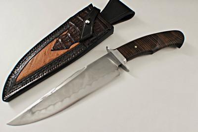 Ben Seward Custom Koa Wood Fighter Fixed Blade Knife (Satin)