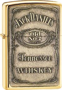 Zippo Jack Daniel's Brass Emblem Lighter