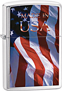 Zippo Made In The U.S.A. Flag Lighter