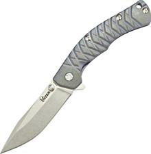 Kizer Cutlery Tomcat Titanium Framelock Flipper Knife (Stonewash)