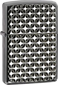Zippo Engine Turned Star Pattern Lighter