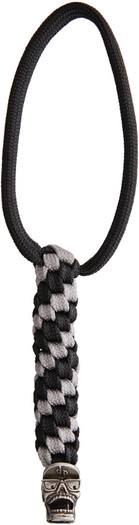 DPx Gear Mr. DP Silver & Black Lanyard with Pewter Bead