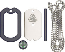 Attack Rescue Survive Dog Tag Deluxe Survival Knife
