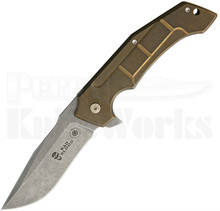 David Mosier Sean Kendrick Burning Horizon Mid-Tech Framelock Knife (Stonewash)